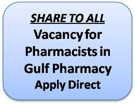 Pharmacy Vacancy by Pharmjobs Org Vacancy For Pharmacists In Gulf Pharmacy