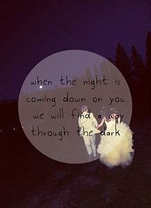 """Through the Dark"" by One Direction."