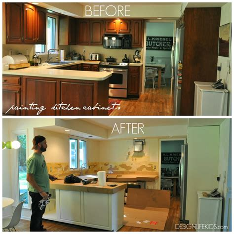 repaint kitchen cabinets diy kitchen cabinet design before after diy kitchen cabinets 4719