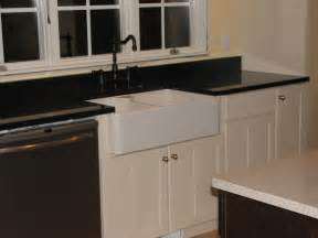 Black White Kitchen Cabinets with Quartz Countertops