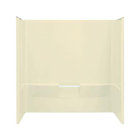lowes bathtub surround shop sterling performa 60 in w x 30 in d x 60 25 in h