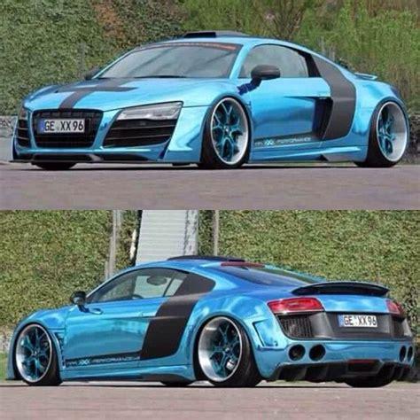 audi r8 chrome blue chrome wrapped baby blue audi r8 autos pinterest