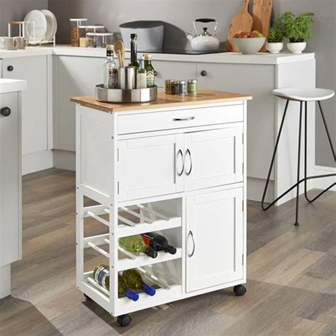 store kitchen trolley  bamboo top