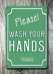 Please Wash your hands Sign Classic Metal Signs