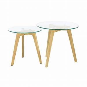 Table Basse Gigogne Verre : table basse gigogne en verre design scandie mooviin ~ Teatrodelosmanantiales.com Idées de Décoration