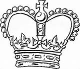 Crown Template Prince Templates Pages Colouring sketch template