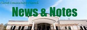 News and Notes from Christ Community Church