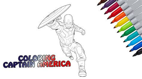 captain america coloring page for mewarnai kapten