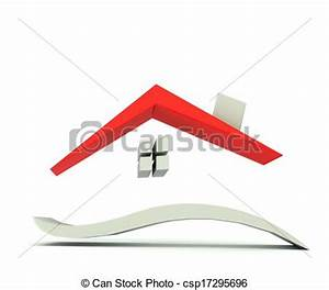 illustration de maison graphique rouges toit logo With toit de maison dessin