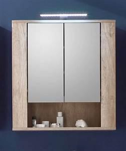 Spiegelschrank Mit Ablage : badm bel sun eiche hell touchwood dunkel kaufen ~ Watch28wear.com Haus und Dekorationen