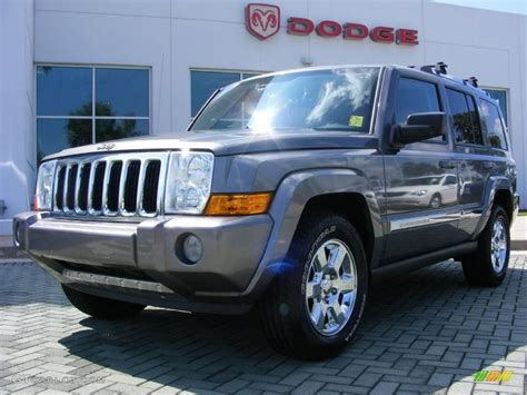 jeep gray color 2007 mineral gray metallic jeep commander limited