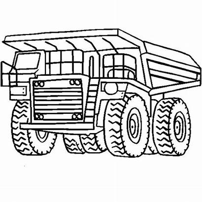 Coloring Truck Pages Dump Mining Tonka Monster