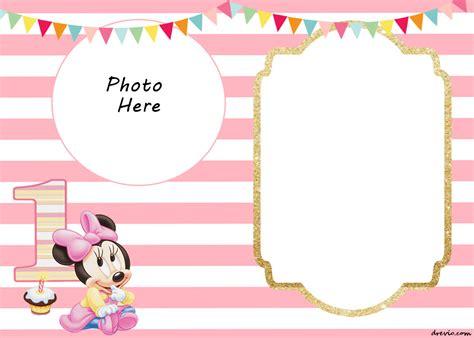 printable minnie mouse st invitation templates