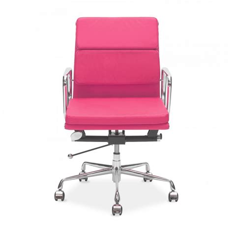 eames style pink back soft pad office chairs cult uk