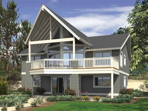 Dramatic Views for Hillside Lot Lake house plans