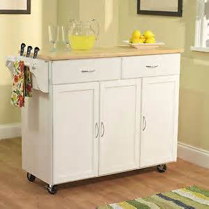 large rolling kitchen island white kitchen island cart utility rolling cabinet storage wood top furniture ebay