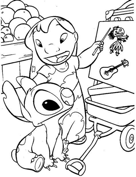 Lilo y Stitch para colorear pintar e imprimir