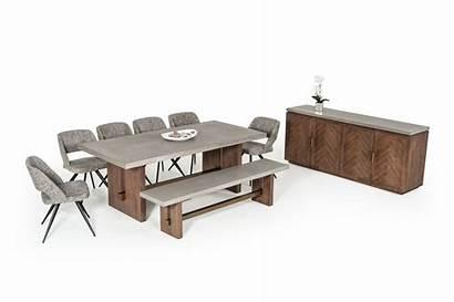 Concrete Modern Acacia Amos Buffet Table Dining