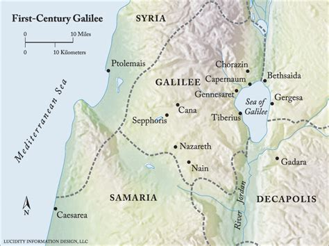 First Century Galilee Map