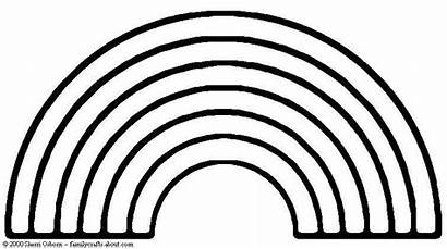 Rainbow Coloring Pages St Plain Rainbows Crafts