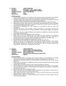 resume for refinery process operator wilfredo guila resume crane operator