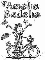 Amelia Bedelia Coloring Pages Printable Awesome Worksheets Biycle Drawing Books Getcolorings Summer sketch template