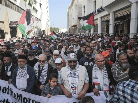 Thousands protest in Morocco against Donald Trump's Middle ...