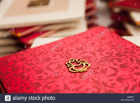 asian indian hindu wedding guest ceremony book   red