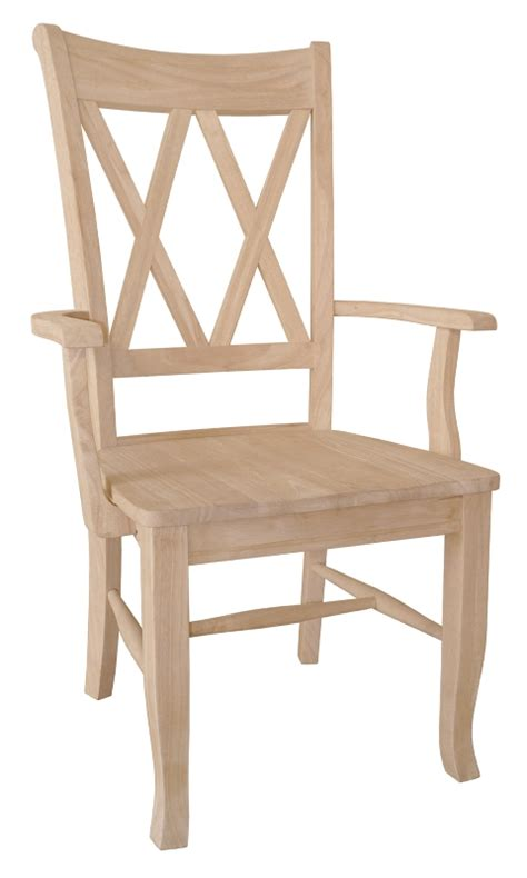 x back arm chair starkwood unfinished furniture