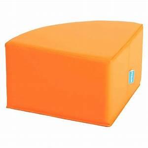 Quart De Rond : quart de rond orange poufs sur planet eveil ~ Melissatoandfro.com Idées de Décoration