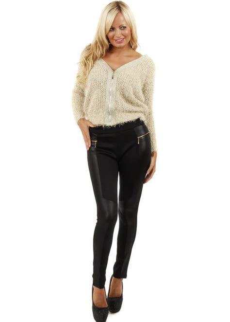 Black Skinny Leggings | Skinny Leather Look Leggings ...