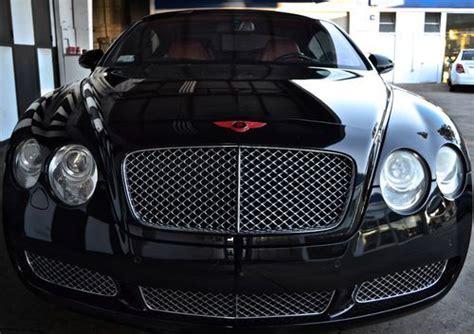 purchase   bentley continental gt coupe  door  jet black red interior