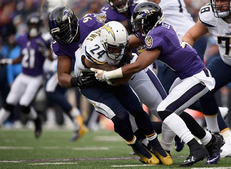 Steve Williams In San Diego Chargers V Baltimore Ravens