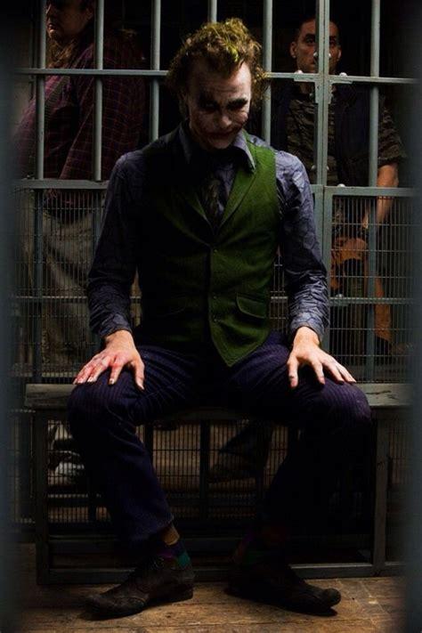 jail scene joker dark knight joker costume joker heath