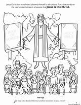 Jesus Christ Mormon Coloring Lds Drawing Printable Stories Scripture Children Bible Testament Another Primary Library Crowd Words Nations sketch template