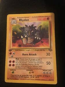 All original images and names © by nintendo. Pokemon card: Rhydon | eBay