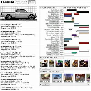 Toyota Tacoma Touchup Paint Codes  Image Galleries
