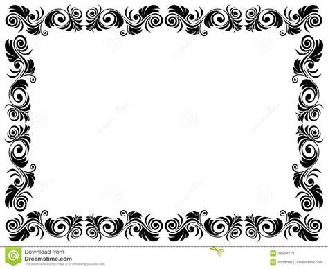 black  white frame  blank  floral element royalty