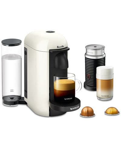 The innovative centrifusion technology lets you brew espresso with a luscious crema base, and the movable cup support accommodates tall glasses easily. Nespresso Breville Vertuo Plus Coffee & Espresso Maker with Frother - Coffee, Tea & Espresso ...