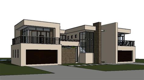 storey house design modern style house plan  model  render home designs architectural