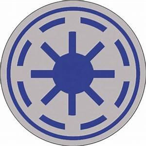 Star Wars Clone Wars Republic Symbol Button