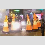 Traffic Cones On Road | 590 x 350 jpeg 44kB