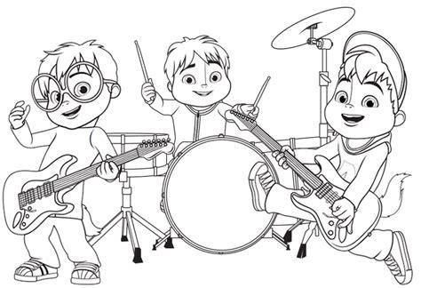 Fresh Beat Band Coloring Pages - Eskayalitim