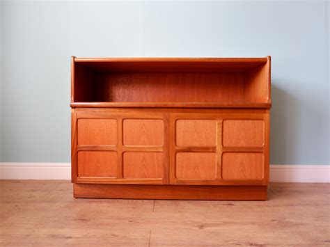 teak record cabinet sideboard  nathan furniture