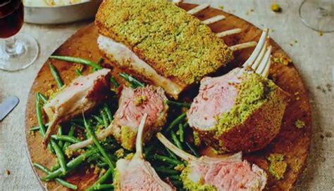 Jamie Oliver Rack Of Lamb With Pistachio And Parsley Crust