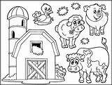 Coloring Farm Pages Barn Animals Animal Livestock Inform Meals Come sketch template