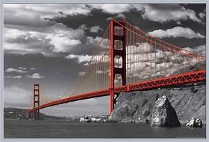 San Francisco Bilder : san francisco golden gate bridge colorlight poster ~ Kayakingforconservation.com Haus und Dekorationen