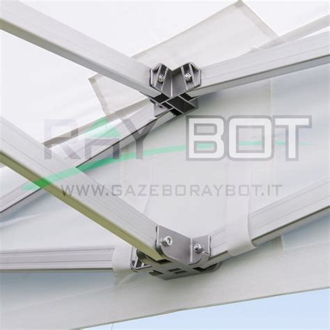 gazebo 4x4 offerta gazebo rapido 4x4 alluminio bianco exa 55mm laterali