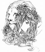 Coloring Zodiac Pages Adult Astrology Leo Gemini Colouring Virgo Adults Lion Abstract Printable Signs Mandala Astrologie Advanced Realistic Drawings Tattoo sketch template