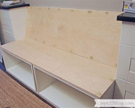 diy built  banquette seat kitchen mini reno